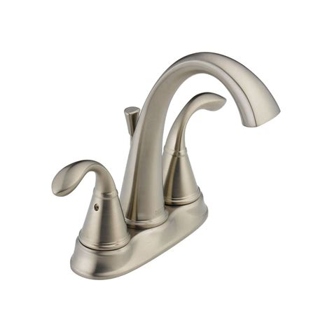 delta zella 2 handle bathroom faucet in stainless finish