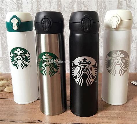 Terlaris Tumbler Starbucks Stainless Steel Termos Botol 500ml 6 different colors starbucks thermos cup vacuum flasks thermos stainless steel insulated thermos