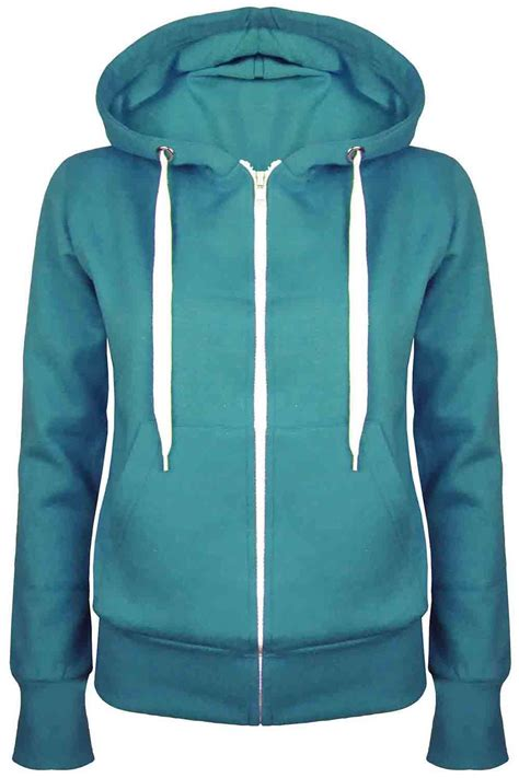Plain Zip Detail Zip Jacket plain zip up fleece hoody sweatshirt coat