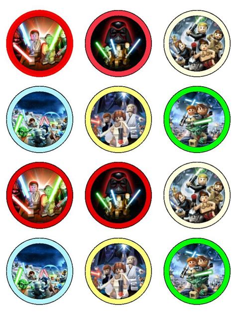 Printable Lego Star Wars Cupcake Toppers | gallery star wars cupcake toppers printable