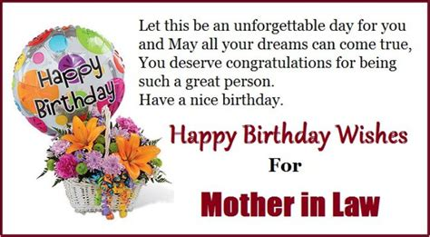 Happy Birthday Wishes From Parents To Birthday Wishes For Mother In Law