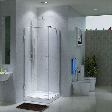 Bathroom Showers 36 Quot X 36 Quot Greer Corner Shower Enclosure With Tray Bathroom