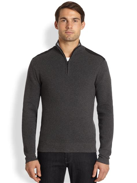 Sweater Maverick By Clothing lyst victorinox maverick sweater in gray for