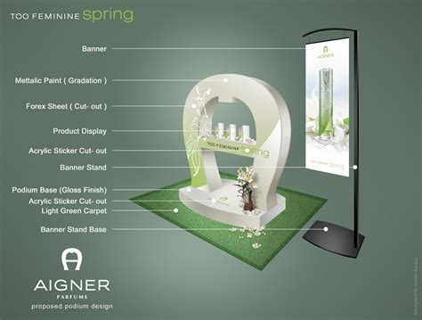 Aigner Feminine Original podium 3d design using adobe photoshop by rommel laurente at coroflot