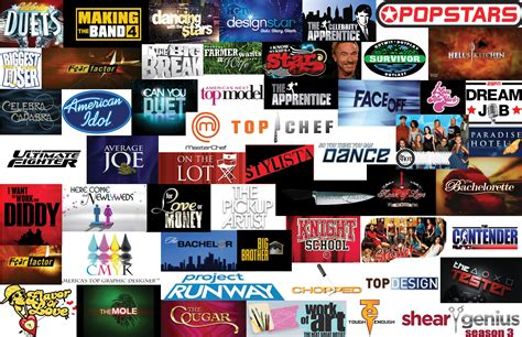 reality shows reality tv logo collage competitions bjkearnan