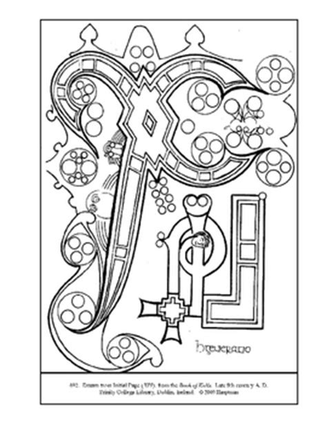 book of kells coloring pages sketch coloring page