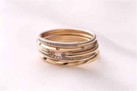 stacking rings gold ring set stacking ring set