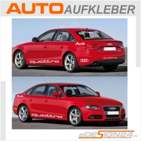 Audi Quattro Aufkleber Maße by E68 Audi Quattro Auto Aufkleber Sticker A3 A4 A6 A8 Ebay