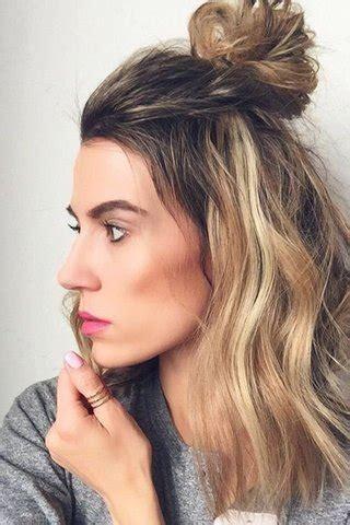 half trend the half bun hair trend