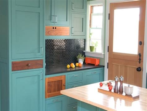 Turquoise Painted Kitchen Cabinets Turquoise Kitchen Cabinets For Any Kitchen Styles Homesfeed