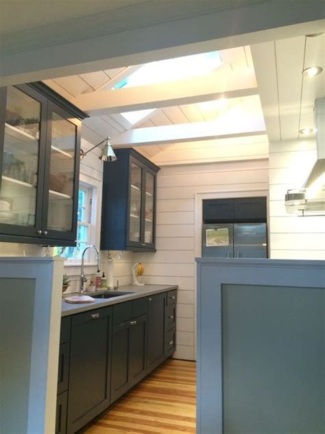 quartz shiplap vaulted ceiling shiplap kitchen with quartz countertops