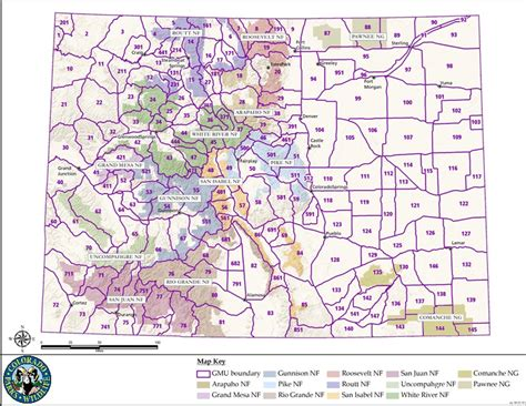colorado gmu map colorado elk population map images
