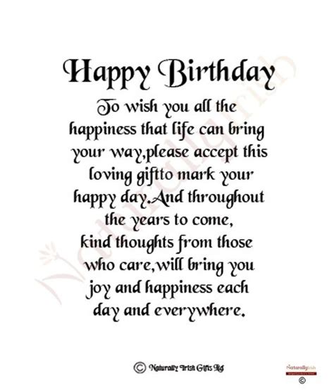 Birthday Card Poems For