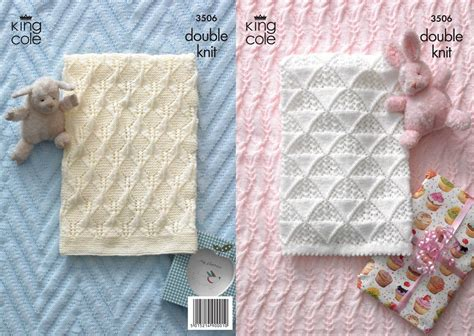king cole free knitting patterns king cole 3506 knitting pattern baby blankets in king cole