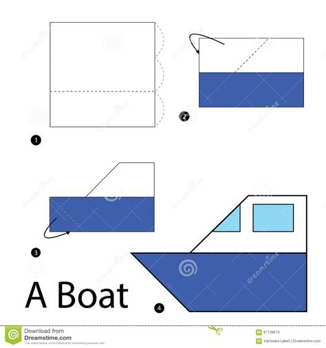 Step By Step Origami Boat - step by step how to make origami a boat