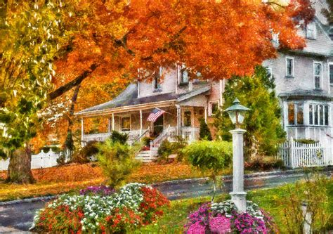 House Plans With Large Front Porch autumn house the beauty of autumn photograph by mike savad