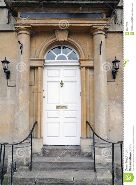 Stately Home Interiors front door of a london town house stock photo image