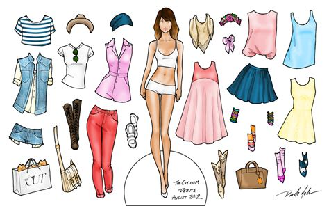 Paper Doll For - paper dolls the cut magnetic dolls fashion