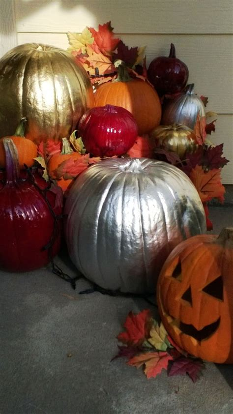 spray painting pumpkins painted pumpkins through the front door