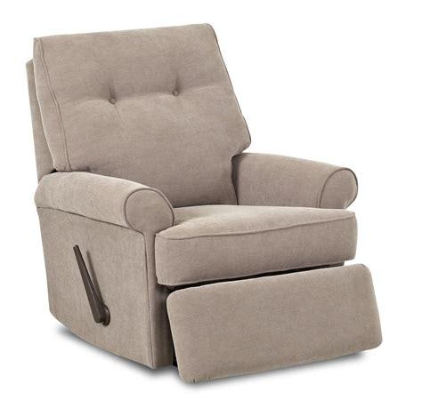 reclining swivel rocking chair klaussner clearwater transitional swivel rocking reclining