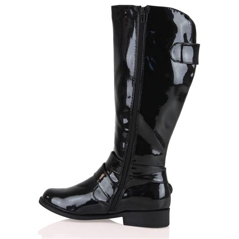 b1g womens boots mid calf flat zip up cowboy