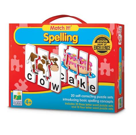Puzzle Match It Spelling benefits