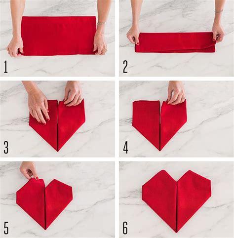 Folding Paper Hearts - 25 best ideas about folding napkins on
