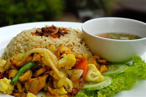 delicious nasi goreng ayam kunyit cooked  perfection