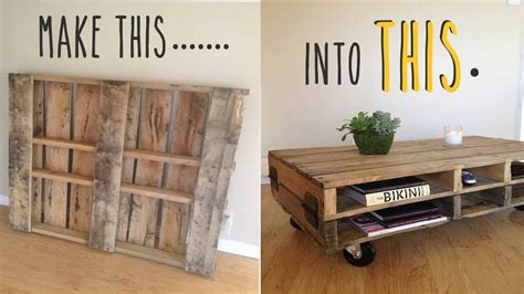 Homemade Kitchen Island by Diy How To Make A Coffee Table Out Of An Old Pallet Youtube