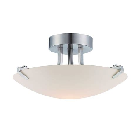 home decorators collection 1 light brushed nickel led semi