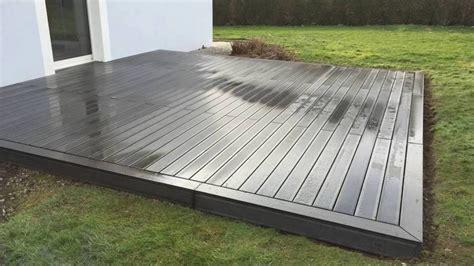 terrasse en bois pose d une terrasse en bois composite