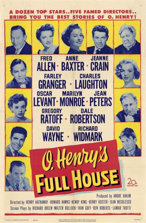 o henry s full house o henry s full house movie posters from movie poster shop