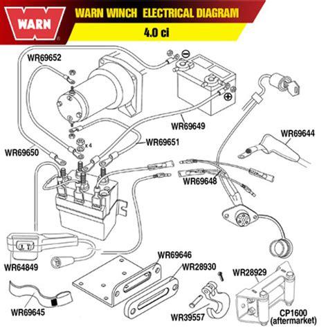 electric winch wiring diagram warn 69648 warn winch remote socket harness