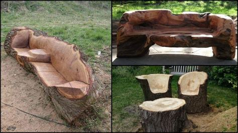 Unique furniture made from tree stumps and logs the owner builder network
