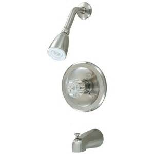 cove 12 2597 satin nickel tub shower combo faucet