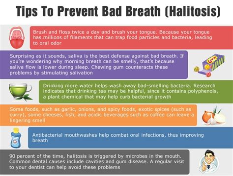 how to make a s breath smell better what causes bad breath tips to prevent it infographic ecogreenlove