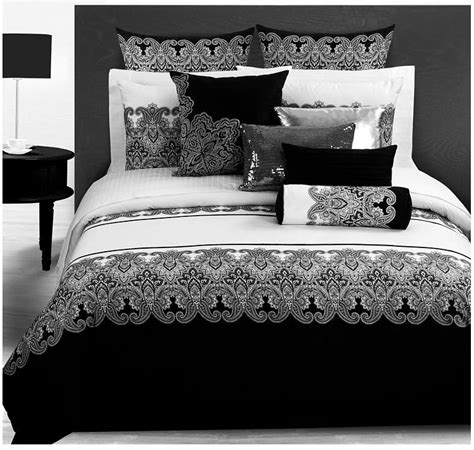 black bed linen sets 3d bedding sets classical black white retro paisley