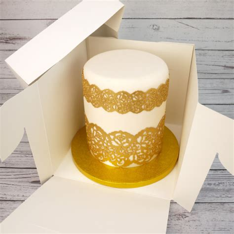 10 Inch Square Cake Box - 9 x 8 inch cake box for stacked cake
