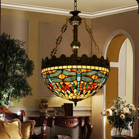 tiffany style hanging stained glass hanging light fixtures slag glass hanging