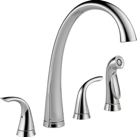 two handle kitchen faucet with sprayer delta foundations 2 handle standard kitchen faucet with
