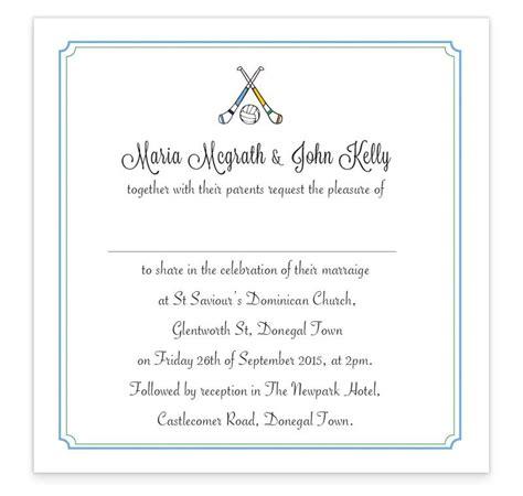 gaa flat wedding invitation donegal vs dublin loving invitations - Wedding Invitations Dublin