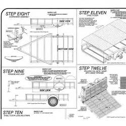 6 x 10 motorcycle utility trailer plans model 10cy