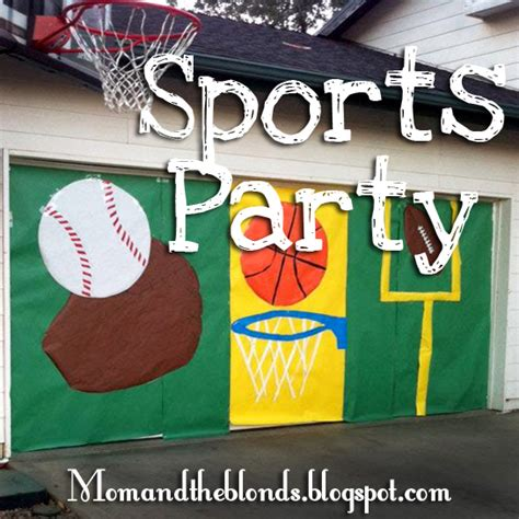 sports themed pictures from the carriage house sports party