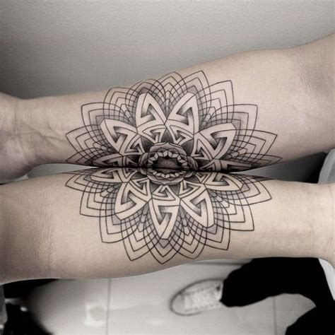 tattoo geometric lines tattoo mandala geometric line arm symmetric