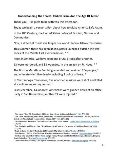 donald trump speech transcript donald trump radical islam policy speech transcript