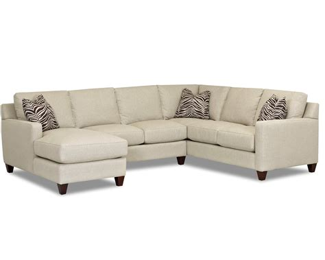 contemporary stationary sectional with track arms left