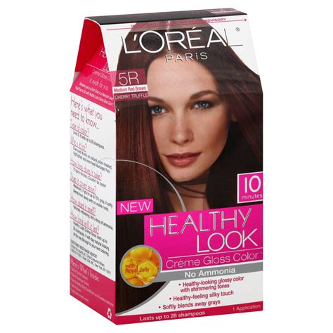 l oreal healthy look creme gloss hair color medium vanilla cr 232 me 8 new ebay l oreal healthy look hair dye creme gloss color medium brown 5r 1 application