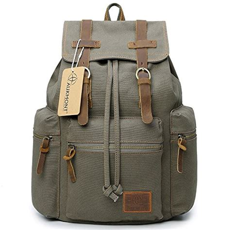 Shimon Travel Bag Outdoor Backpack Import Canvas canvas backpacks vintage rucksack casual leather army kipling import it all