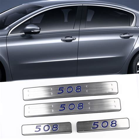 pug car accessories for 2015 peugeot 508 accessories door sills outside plate stainless steel welcome