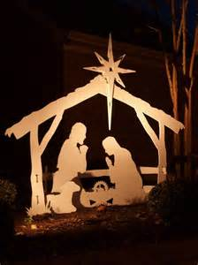 large outdoor nativity just beautiful nativity